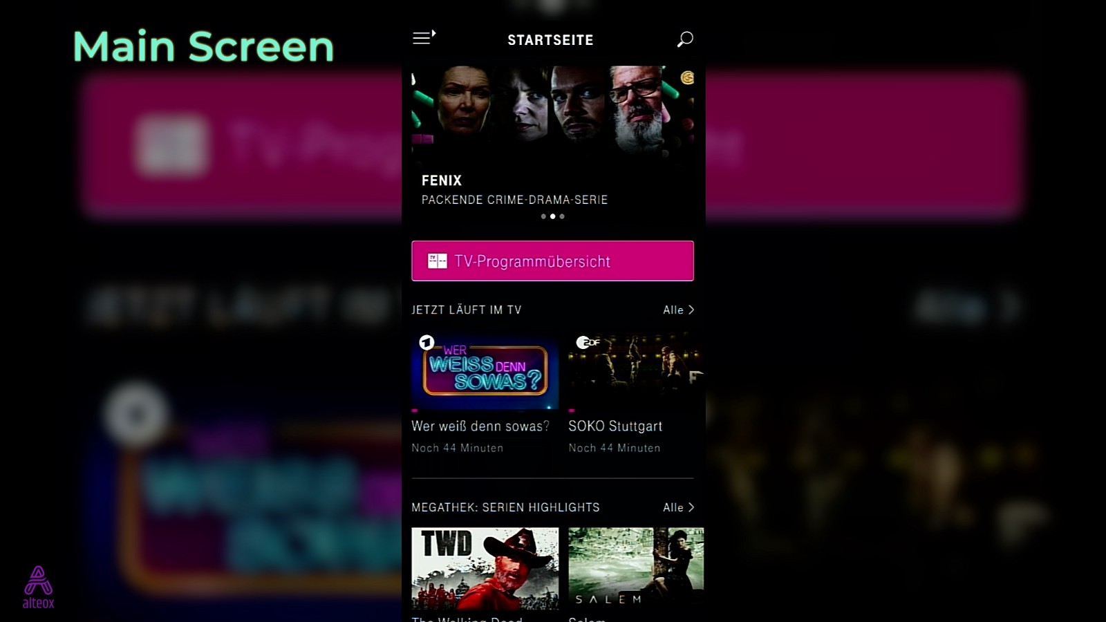 Alle Serien Online Magentatv App Walkthrough Alteox Medium