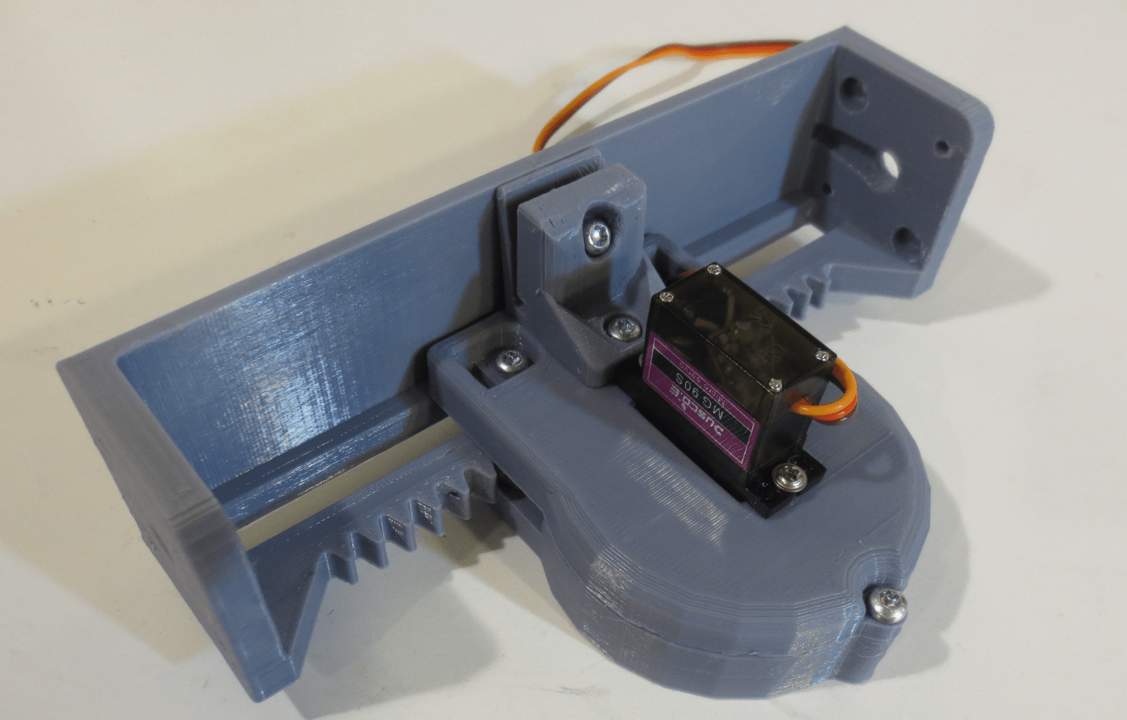 3d Micro 3d Printed Linear Actuator Powered By A Micro Servo