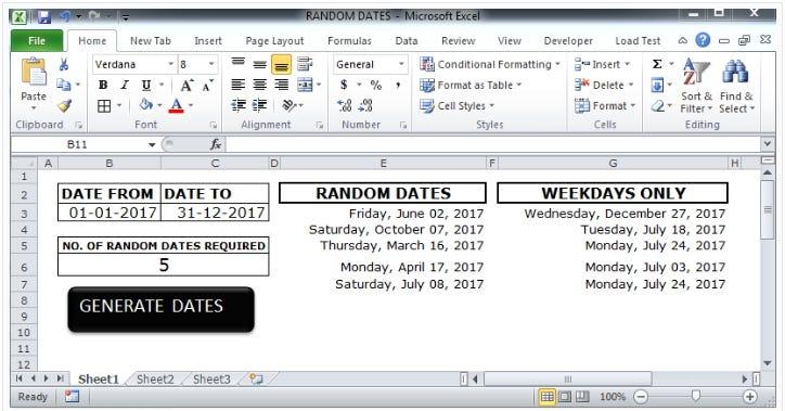 Generating Random Future Dates,Time  DateTime in Excel