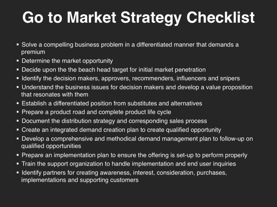 New Go-To-Market Strategy Checklist for Savvy Entrepreneurs