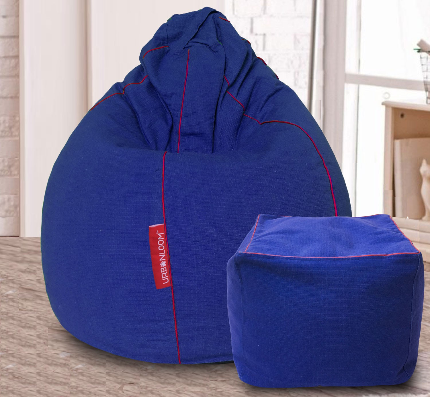 Bean Bag Footstool How Do I Select The Size Of A Bean Bag Urbanloom Medium
