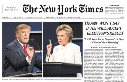 Hilarious Third Presidential Debate In Din Parsing Outrage Exactlywhat He Whatever Good Trump Did Last Night To Win Over Voters Willbe Only Thing That Mattered What Promises To Be Days