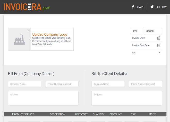 Best online invoice Generator completely free of Cost