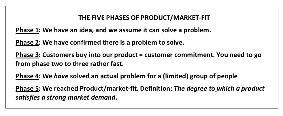 Actionable advice and learnings How do you reach Product/market-fit?