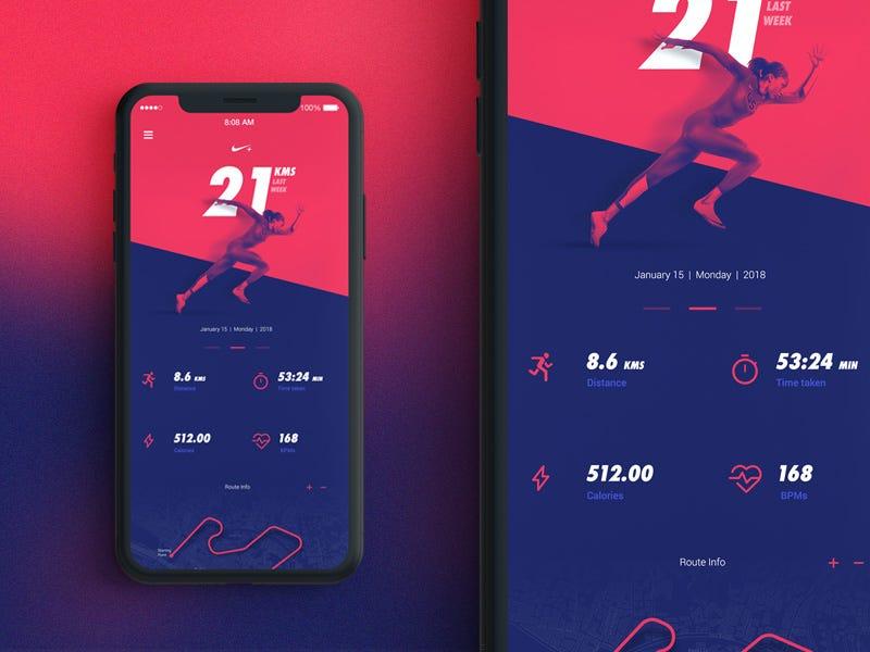 Friday Design Inspiration 15 Inspiring Fitness App Designs