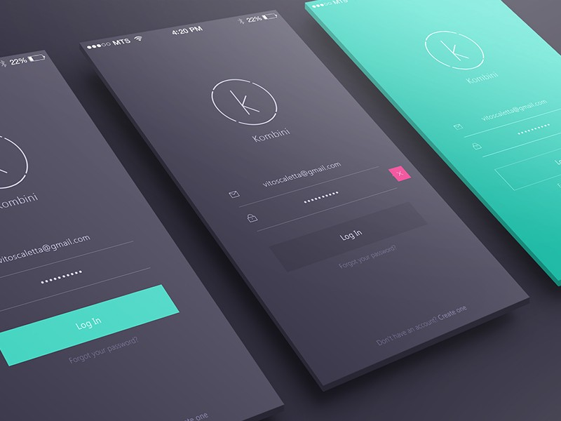 Login/Sign up inspiration for mobile apps \u2013 Muzli - Design Inspiration