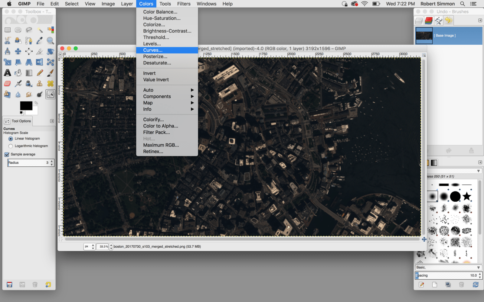 2 Gimp Tutorial Making Sense Of Satellite Data An Open Source Workflow Color