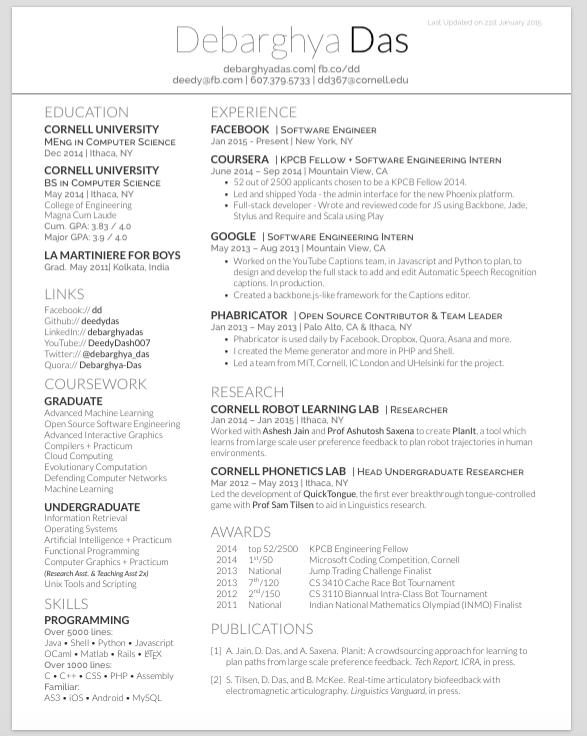 udacity resume template