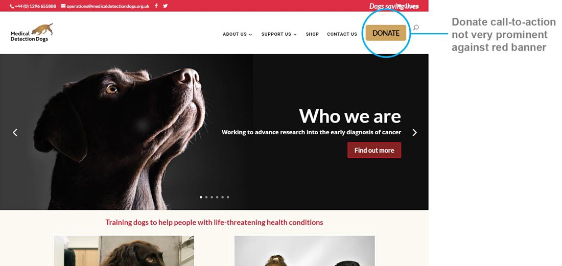 Charity website a UX case study \u2013 UX Collective