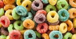 Small Of Fruit Loop Donut