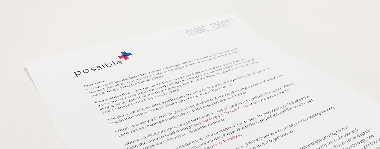 I send this letter to every candidate before making an offer