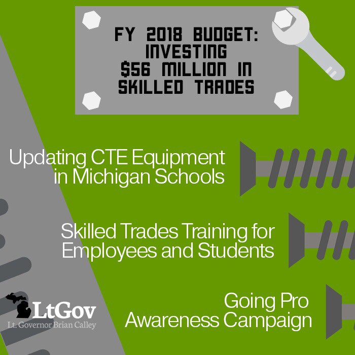 MI Budget Investing to prepare students for in-demand skills trades - budgets for students