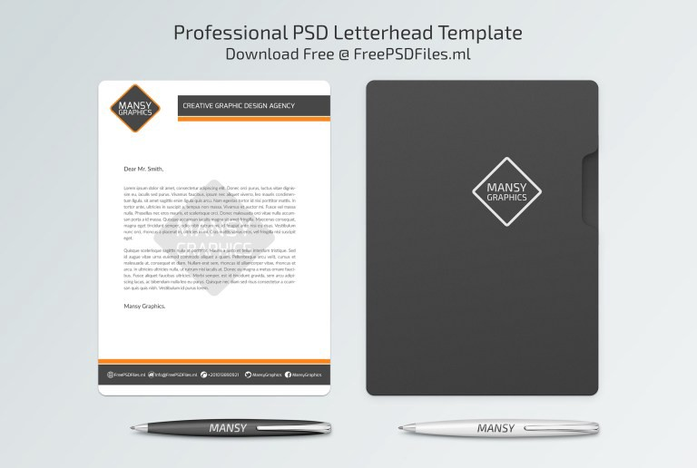 Professional PSD Letterhead Template \u2013 Mansy Graphics \u2013 Medium