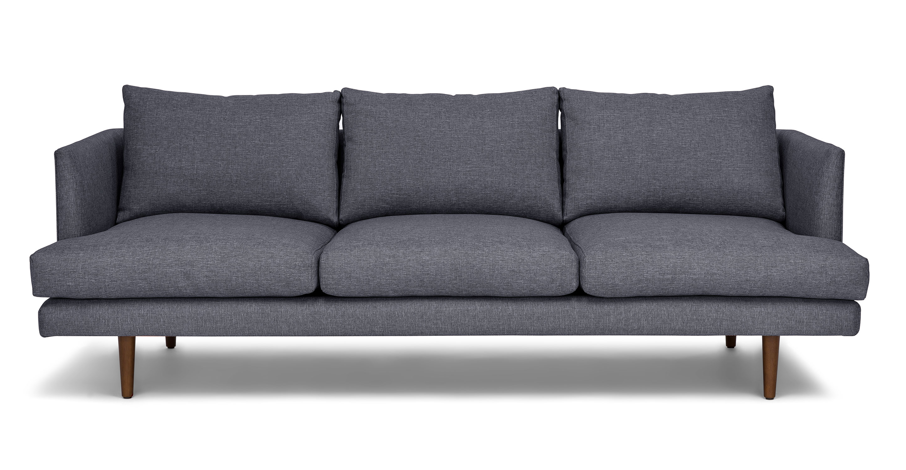 Couch Cover Sofa Blue Fabric Sofa 3 Seater Solid Wood Legs Article Burrard Modern Furniture