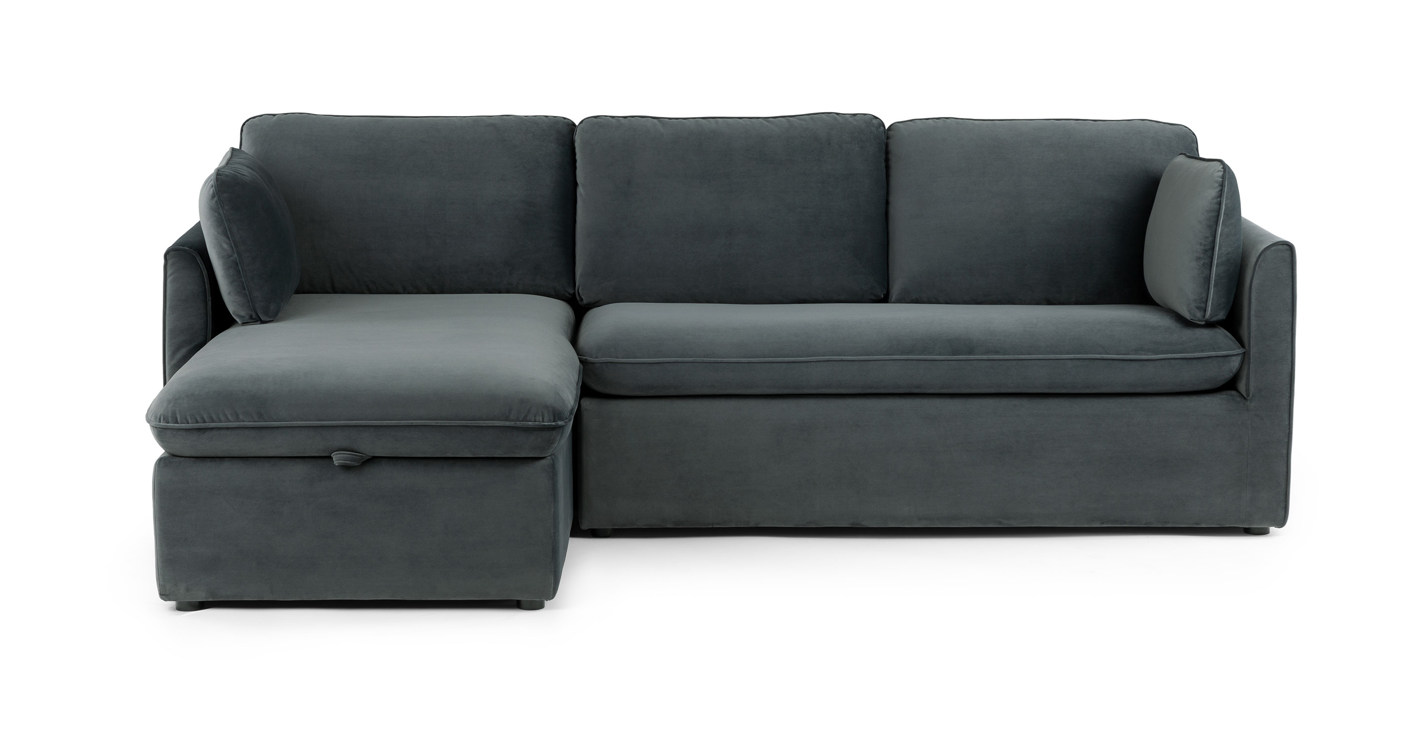 Sofa Bed For Sale Toronto Blue Gray Velvet Sofa Bed Left Sectional Article Oneira Modern Furniture
