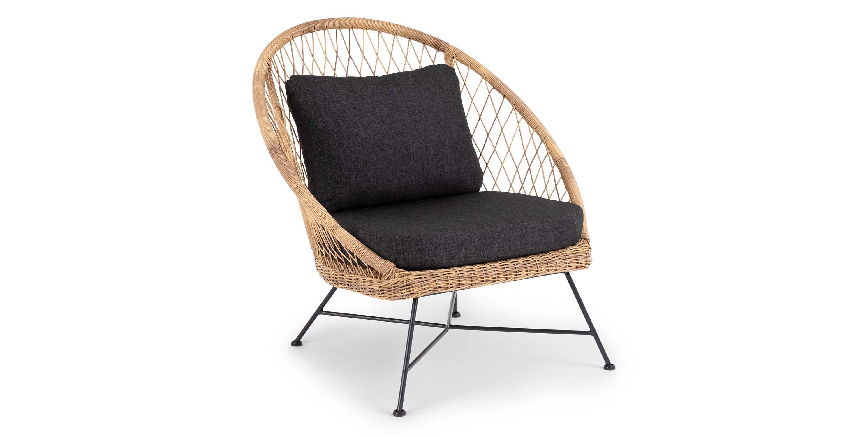 Lounge Chair Dark Gray Outdoor Wicker Lounge Chair Article Aeri Outdoor Furniture