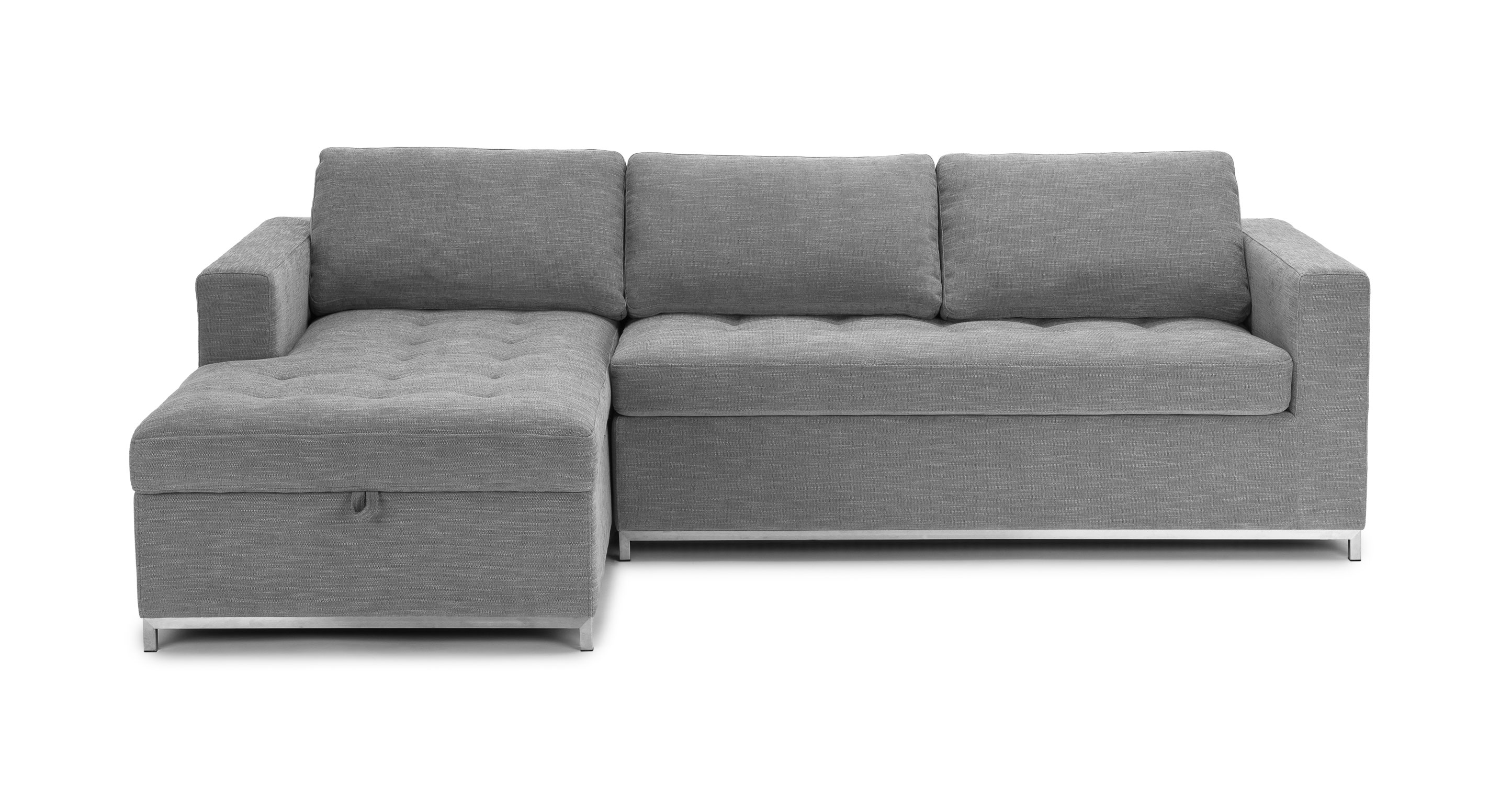 Couch With Bed In It Gray Sofa Bed Left Sectional Metal Legs Article Soma Modern Furniture