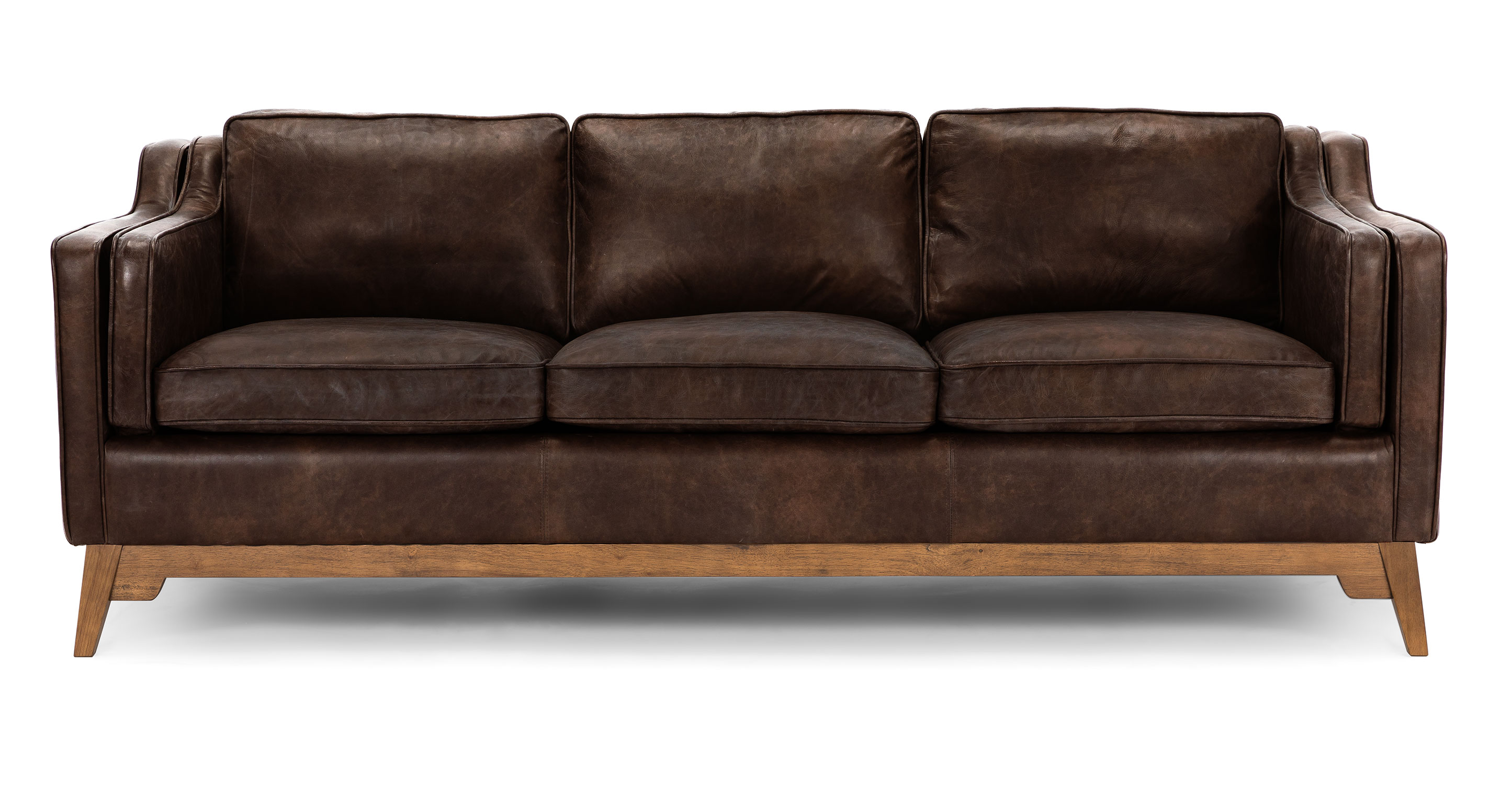 Sofa Couch Brown Leather Sofa Upholstered Article Worthington Modern Furniture