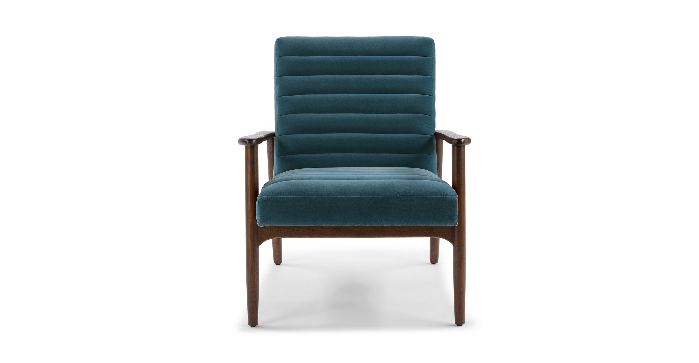Pacific Blue Thetis Velvet Walnut Chair Article