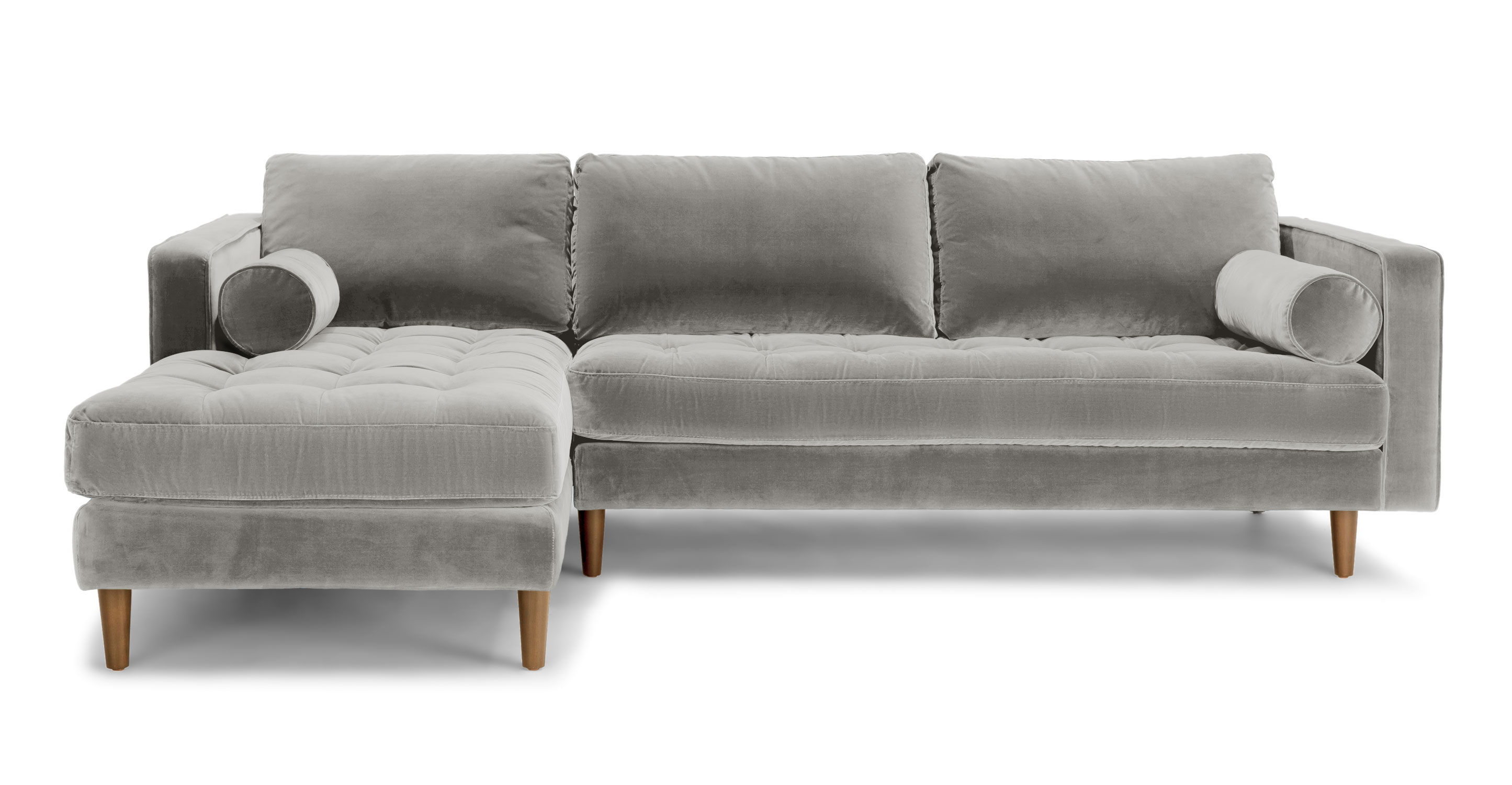Gray And White Sofa Sven Intuition Gray Left Sectional Sofa Sectionals