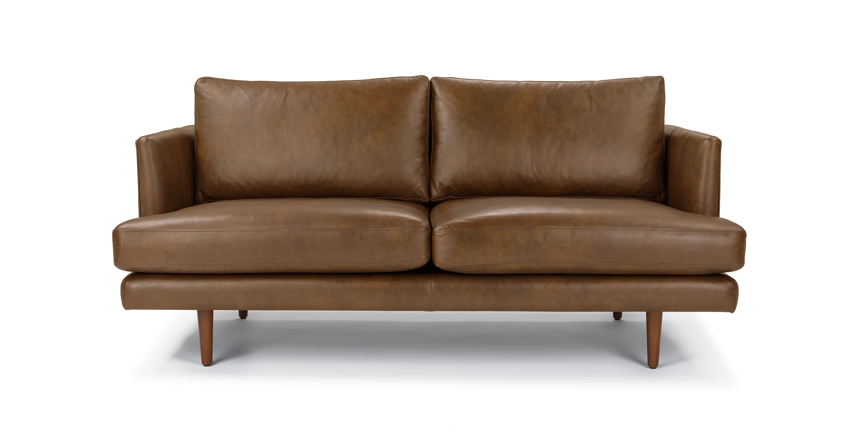 Vintage Sofa Lounge Winston Salem Tan Leather Loveseat Solid Wood Legs Article Burrard Modern Furniture