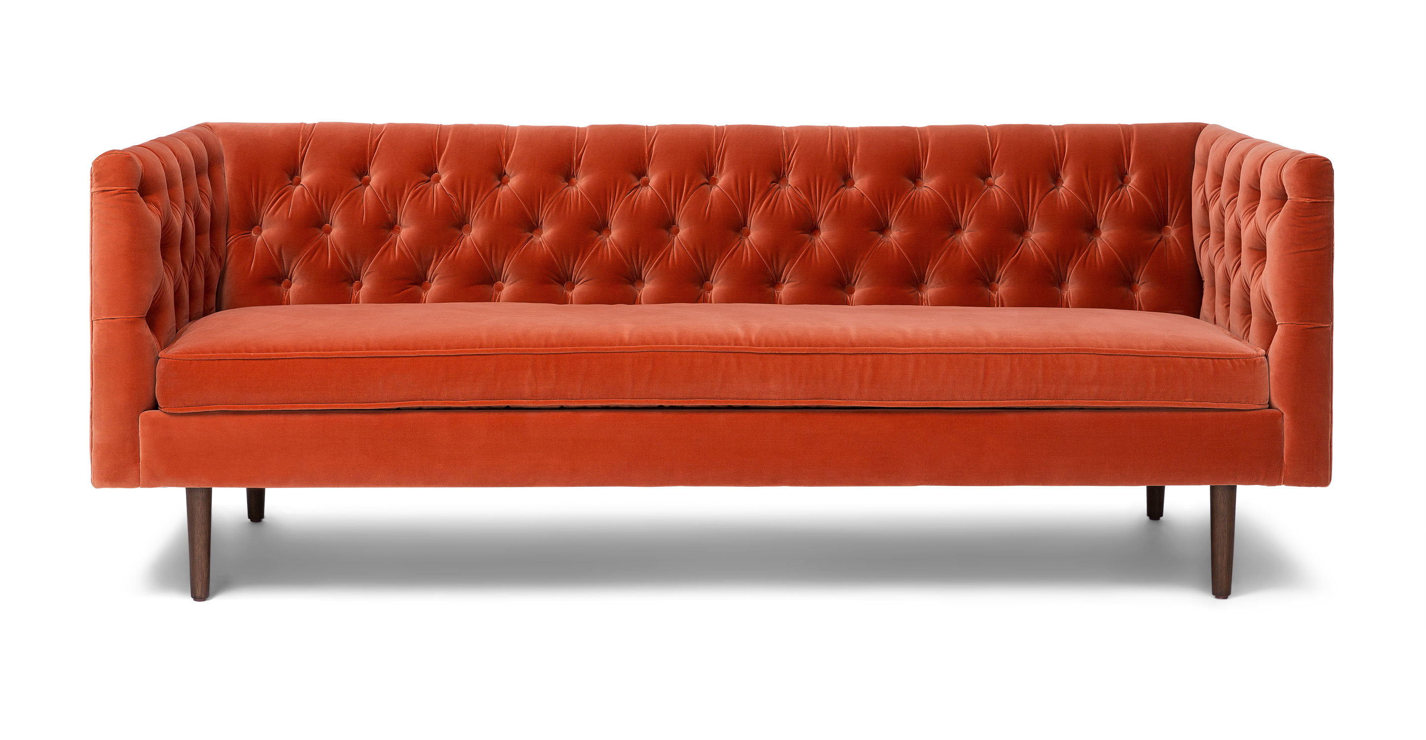 Sofa Orange Chester Persimmon Orange Sofa Article