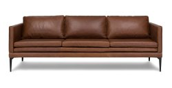Small Of Brown Leather Couch