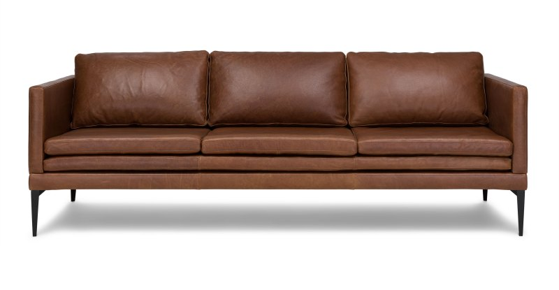 Large Of Brown Leather Couch