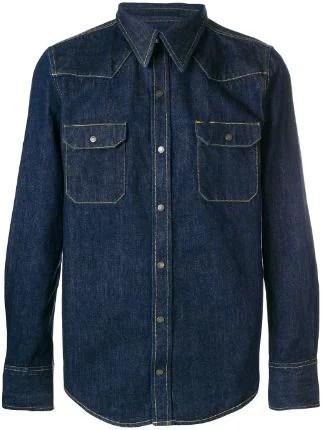 Calvin Klein 205W39nyc Denim Contrast Stitching Shirt - Farfetch