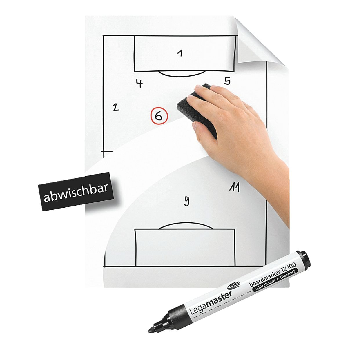 Whiteboard Günstig Legamaster Whiteboardfolie Magic Chart 7 159100 Bei