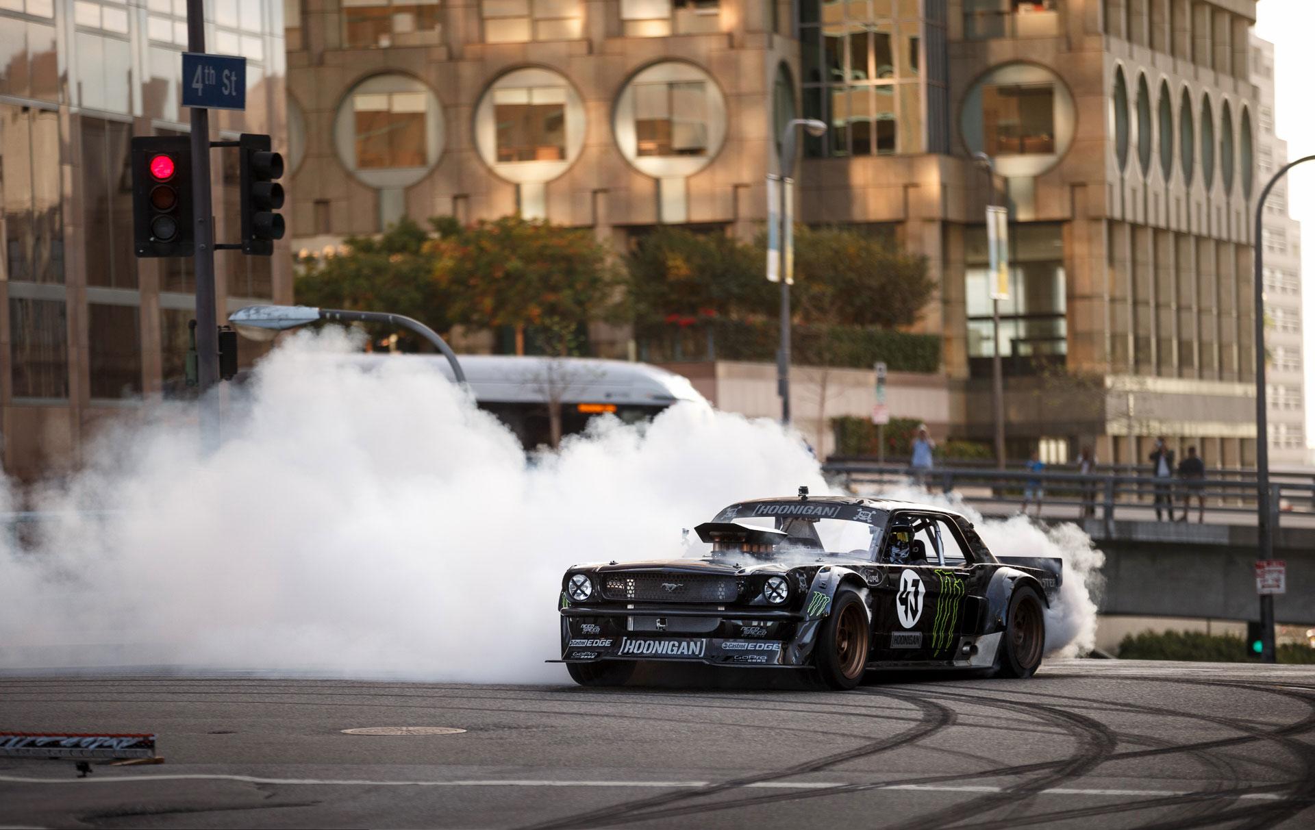 Gymkhana 7 Car Wallpaper Ken Block Tears Up La In 845 Hp Mustang Speedvegas