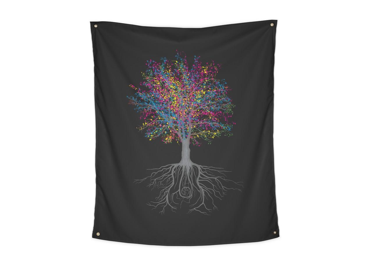It Grows On Trees By John Tibbott Indoor Wall Tapestry