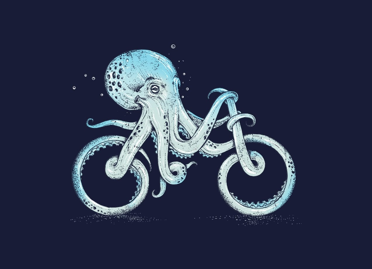 Cute Wallpapers For Phone Cases Octopus Bike By Alan Maia Threadless