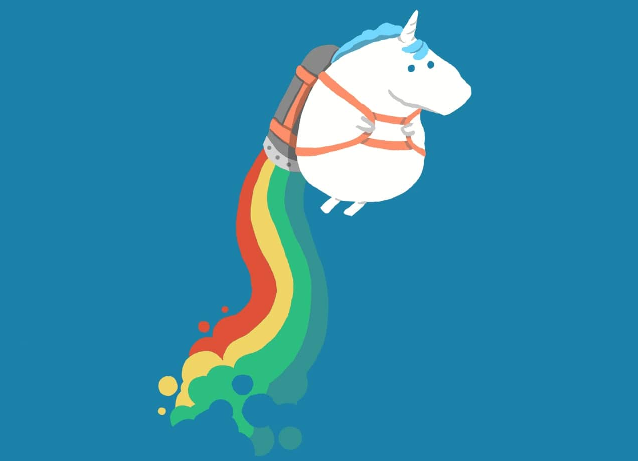 Cute Wallpapers For Phone Cases Fat Unicorn On Rainbow Jetpack By Radiomode Threadless