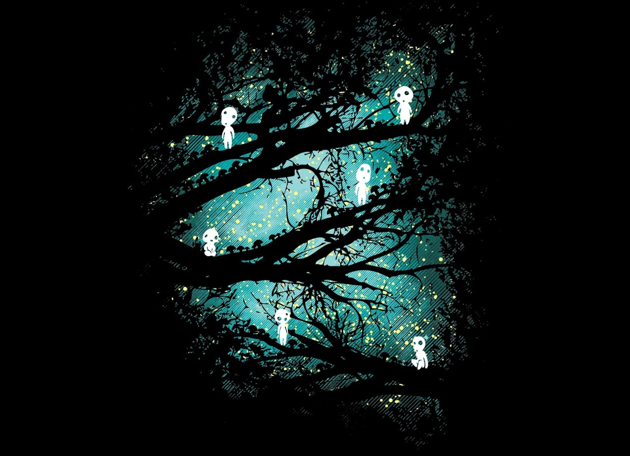 Girl Wallpaper Free Down Tree Spirits By Dale Threadless