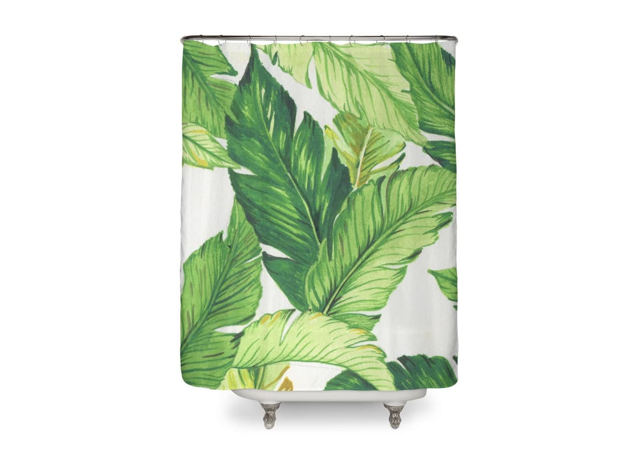 Banana Leaf Shower Curtain Banana Jungle