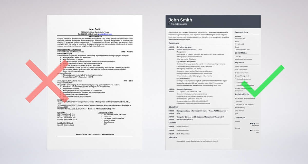 cv resume builder software