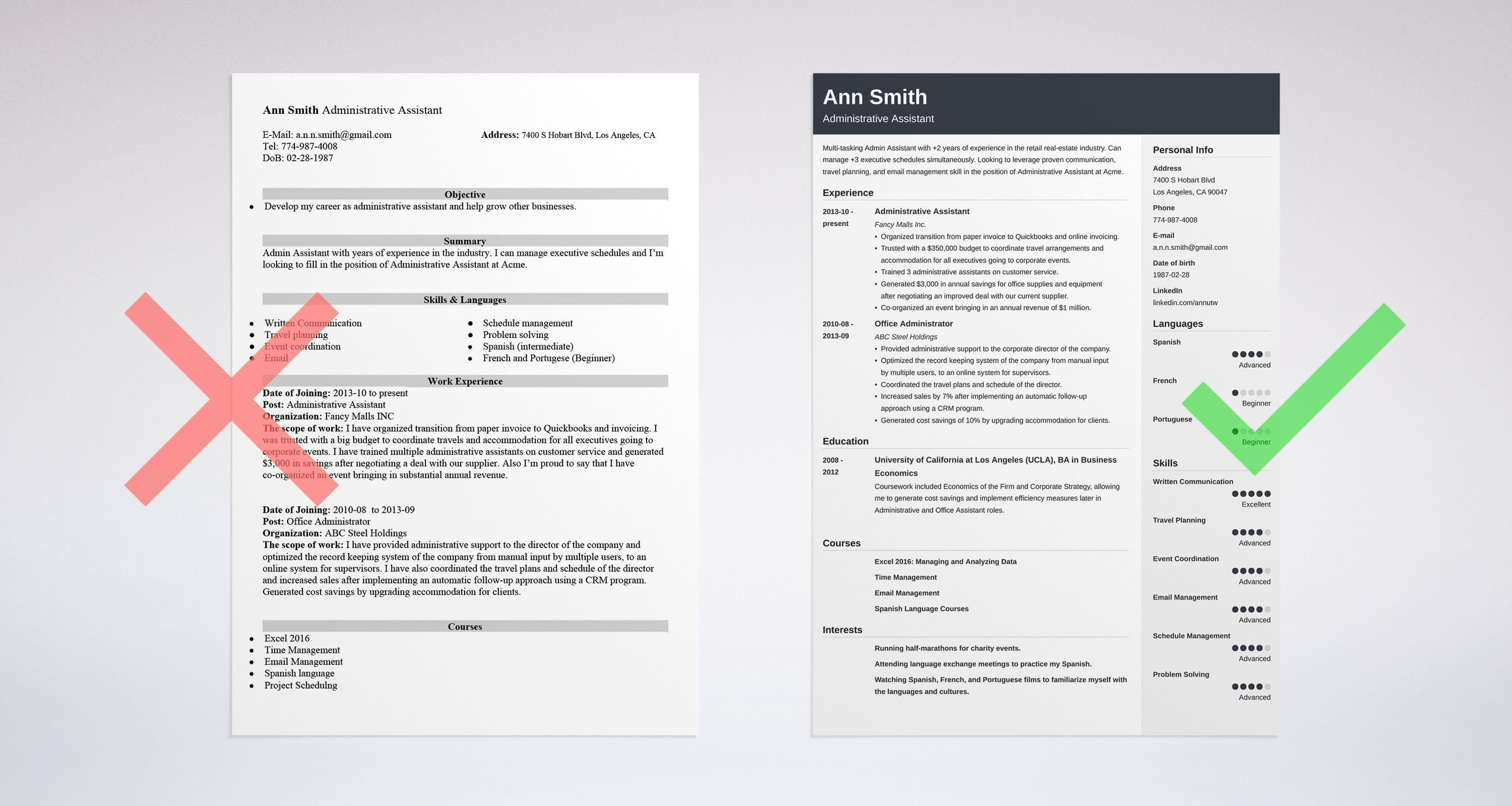 Administrative Assistant Modern Job Resume Samples Administrative Assistant Tacu Sotechco Co