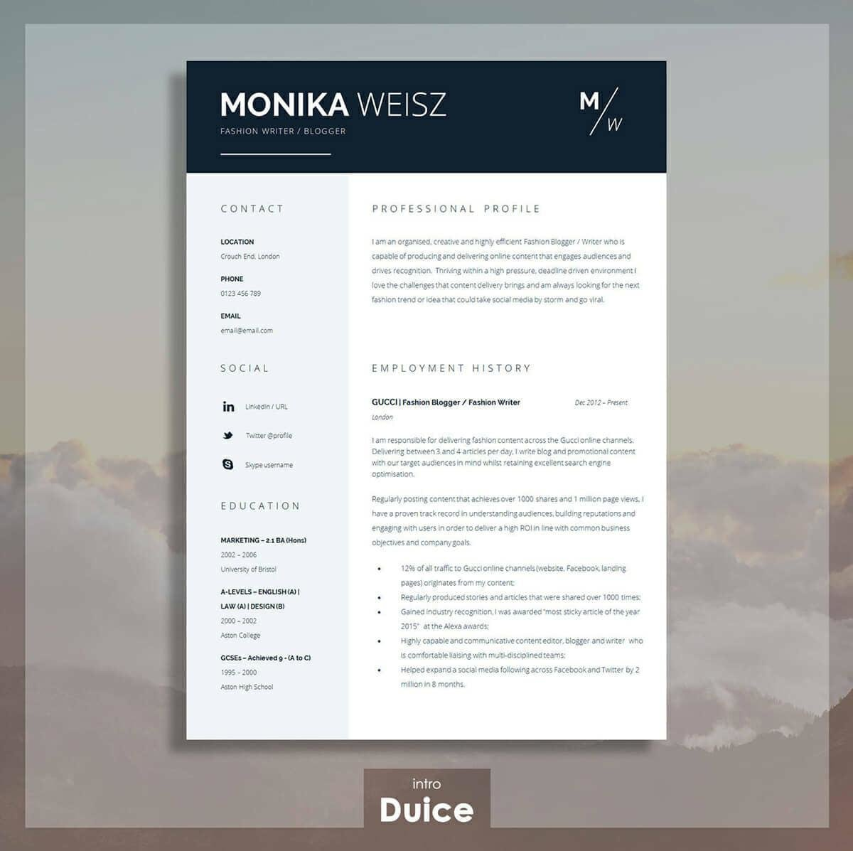 Microsoft Word Resume Template Best Resume Templates 15 Examples To Download Use Right Away