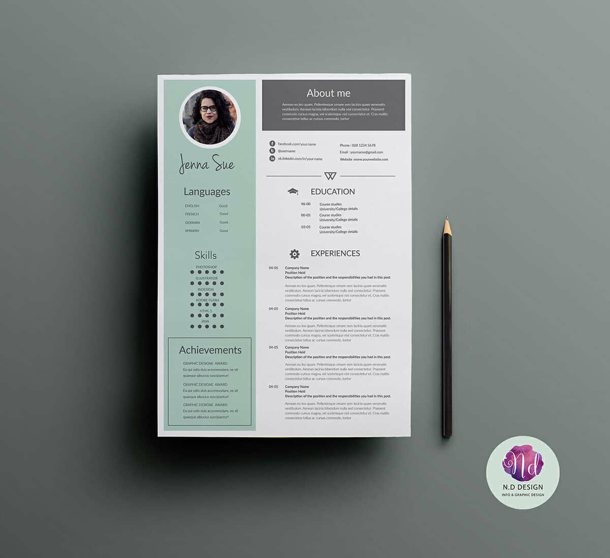 modern cv templates for business