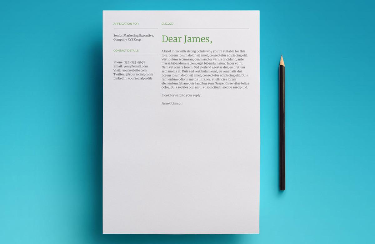 cover letter font