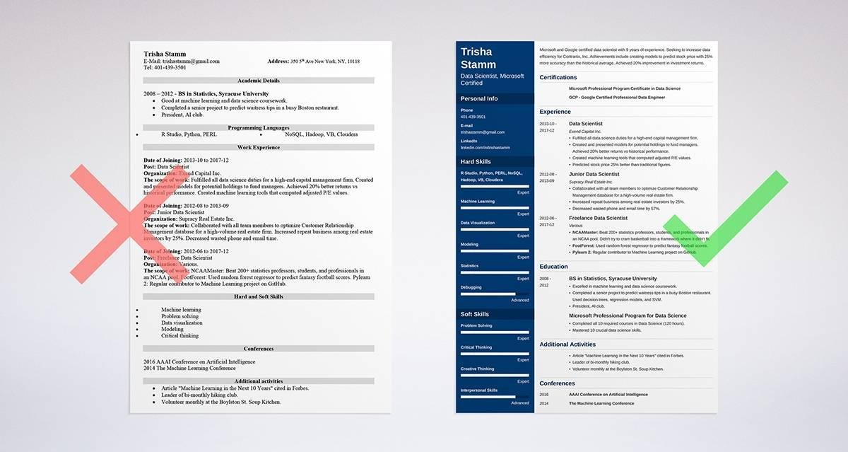 Data Scientist Resume Sample and Complete Guide 20+ Examples