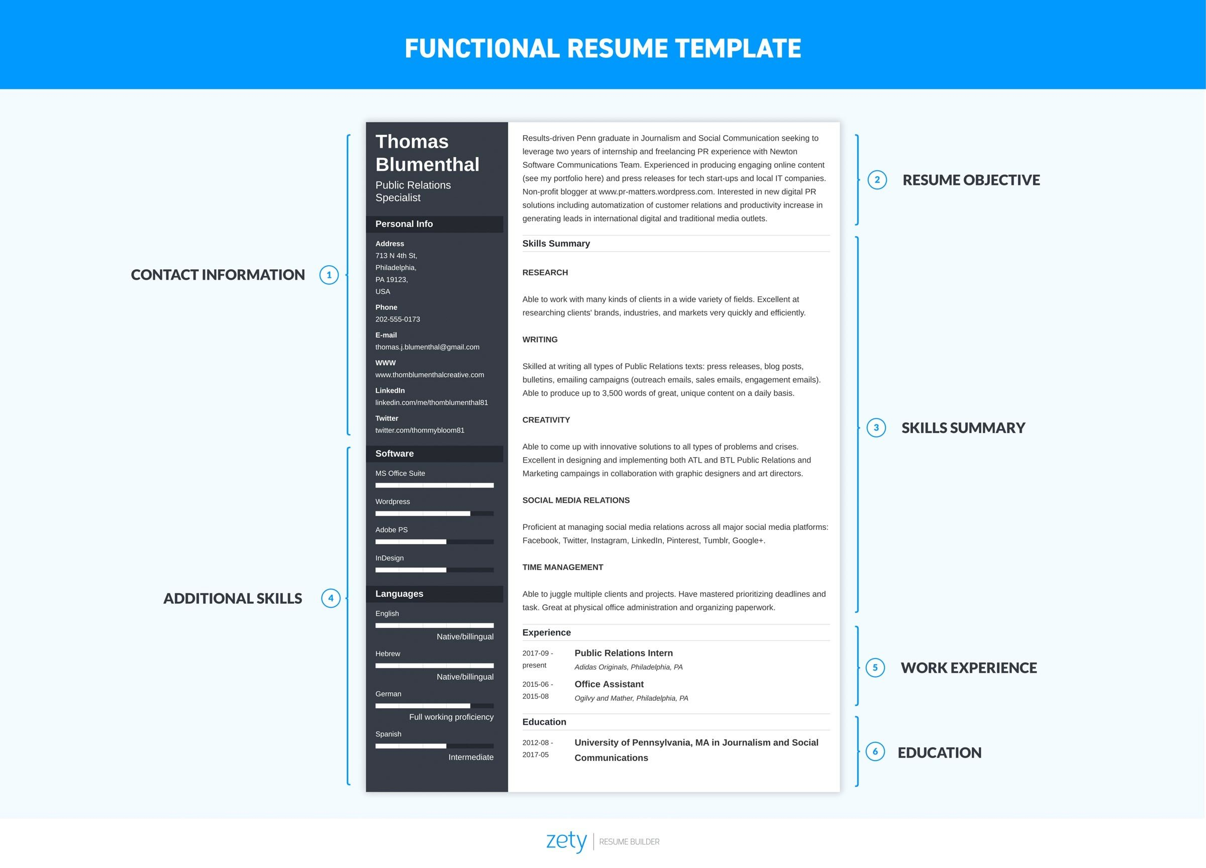 Functional Resume Template  Examples Complete Guide