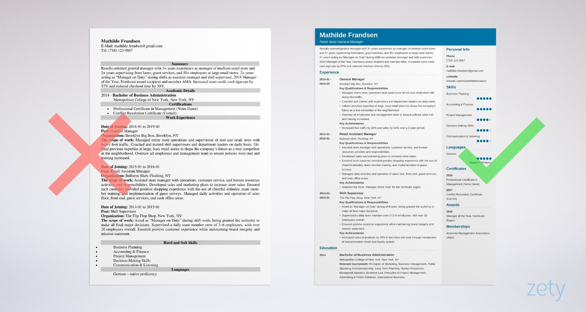 advertising manager resume example