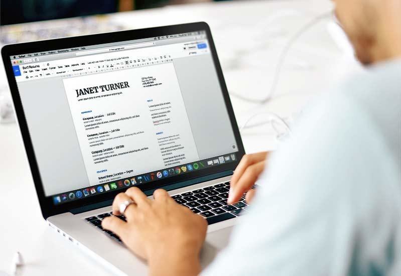 Google Docs Resume Templates 10+ Free Formats to Download (2019)
