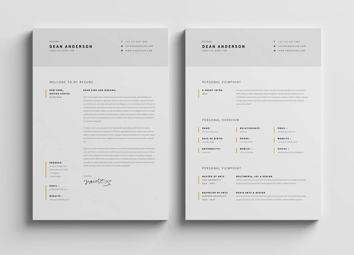 photoshop templates for resume