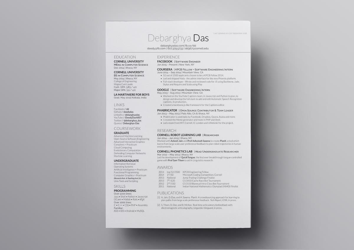 resume graduated