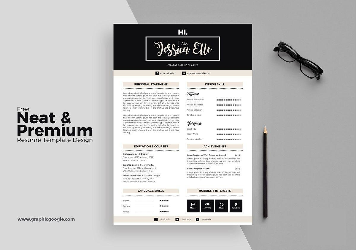 free creative resume templates indesign adobe