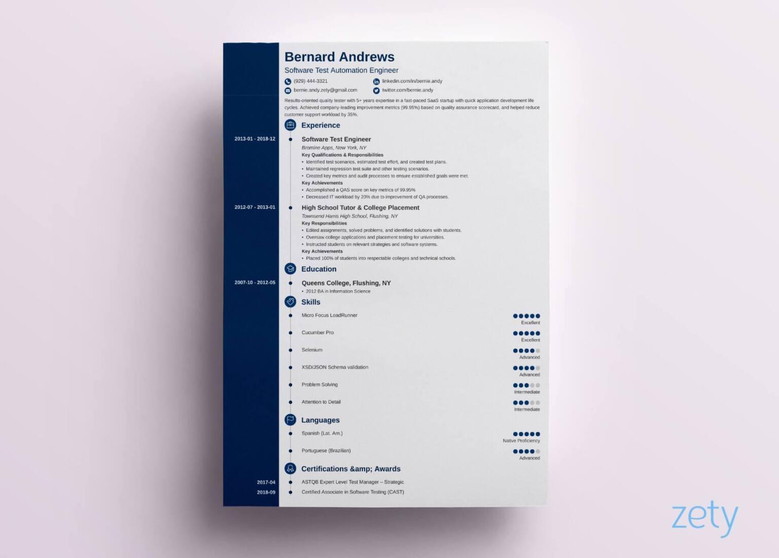 resume cv circles modern