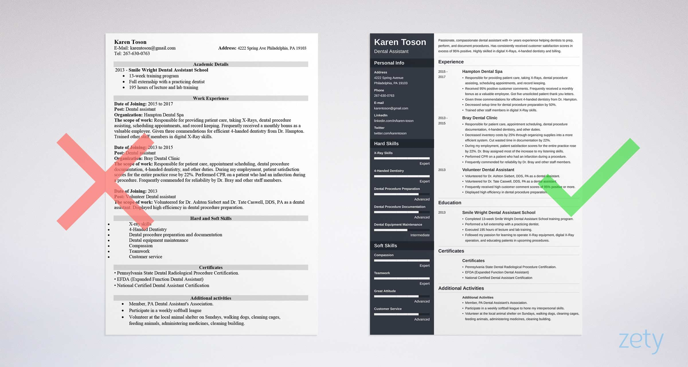 good one page resume examples